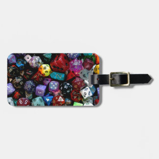 RPG Multi-sided Dice Luggage Tag