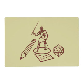 RPG Table Placemat Laminated Place Mat