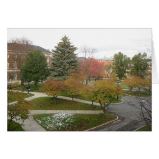 RPI campus as October snow melts Card