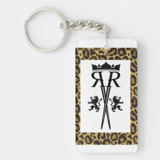 RR Logo Leopard Print Keychain