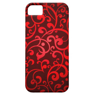 RRFDS RUBY RED DIGITAL SWIRLS RANDOM ABSTRACT BACK iPhone 5 COVERS