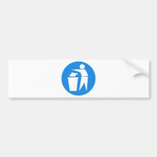 RRRE REDUCE REUSE RECYCLE GARBAGE LITTER TRASHCAN BUMPER STICKER
