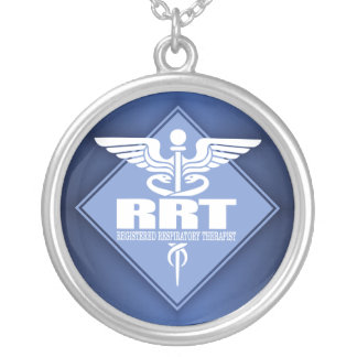 RRT Registered Respiratory Therapist Silver Plated Necklace