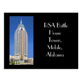 RSA Battle House Tower, Mobile, Alabama Postcard