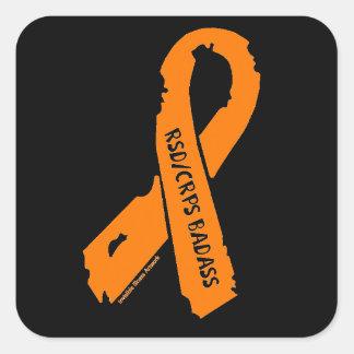 RSD/CRPS BADASS  torn ribbon Square Sticker