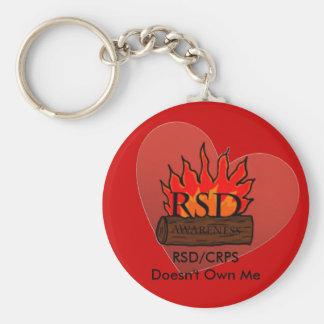 RSD/CRPS Doesn't Own Me Heart Key Ring