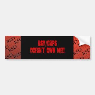 RSD/CRPS Doesn't Own Me Sticker Bumper Sticker