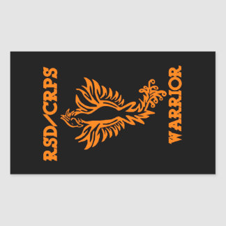 RSD/CRPS WARRIOR  phoenix Rectangular Sticker