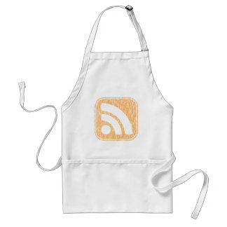 RSS Icon Button Weathered Design Apron
