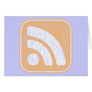 RSS Icon Button Weathered Design Greeting Card