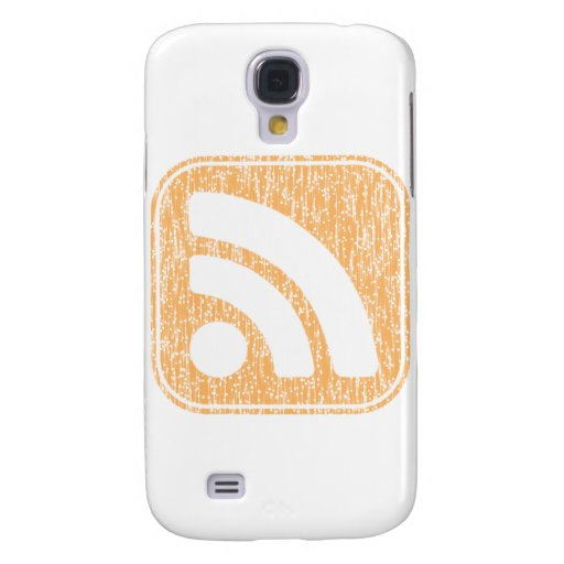 RSS Icon Button Weathered Design Galaxy S4 Cases