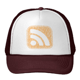 RSS Icon Button Weathered Design Mesh Hat