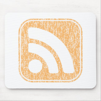 RSS Icon Button Weathered Design Mouse Pads