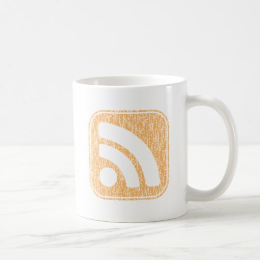 RSS Icon Button Weathered Design Mug