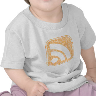 RSS Icon Button Weathered Design T-shirts