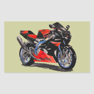 RSV MILLE SUPERBIKE. RECTANGLE STICKERS