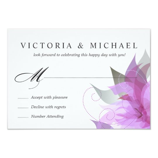 RSVP 2-Sided Orchid Purple Floral Card
