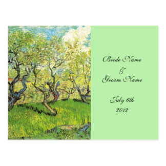 RSVP, acceptance card, Orchard in Blossom Postcard