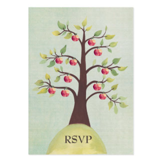 RSVP Apple Tree Watercolor Nature Wedding Cards Business Card Template