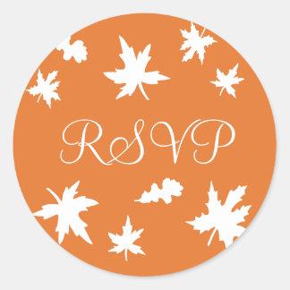 RSVP Autumn Leaves Envelope Sticker Seal