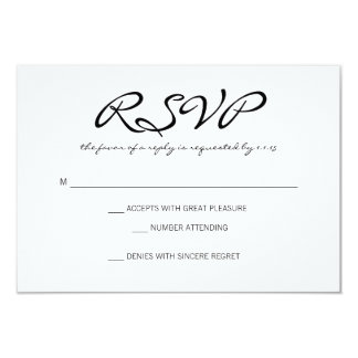 RSVP | Basic II | whitebl Card
