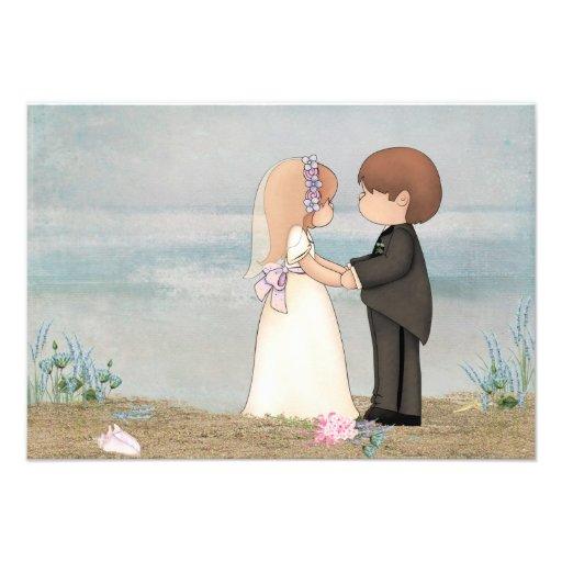RSVP beach wedding Custom Invites