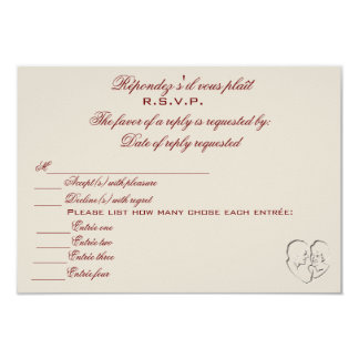 RSVP/Because Two People Fell In Love 9 Cm X 13 Cm Invitation Card