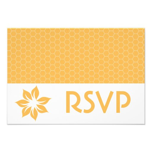 RSVP Beeswax Honeycomb Response Card Personalized Invitation
