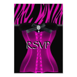 RSVP Birthday Pink Zebra Black Dress Card