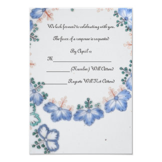 RSVP  Blue Japanese Antique Imari Wedding Card