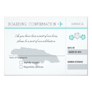 RSVP Boarding Pass TO JAMAICA Card