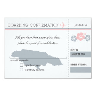RSVP Boarding Pass TO JAMAICA Custom Announcement