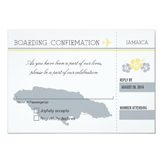 RSVP Boarding Pass TO JAMAICA Announcements