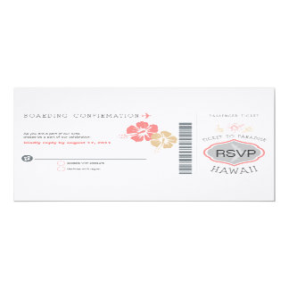 RSVP Boarding Pass Wedding Card
