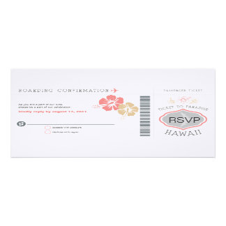 RSVP Boarding Pass Wedding Personalized Invitations