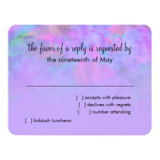 RSVP Card Abstract Design in Purple