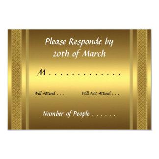 RSVP Card Gold