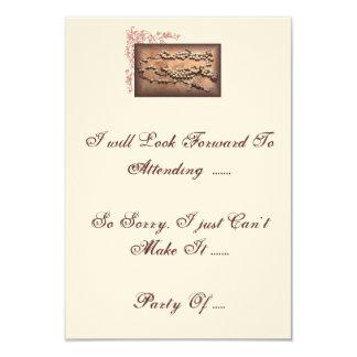 "RSVP Card matches ""Antique Wedding Lasso"" 9 Cm X 13 Cm Invitation Card"
