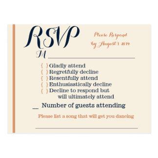 RSVP Card Postcard
