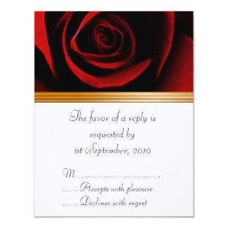 """RSVP Card Roses Are Red 4.25"""" X 5.5"""" Invitation Card"""