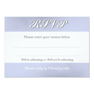 """RSVP Card to Match the White Orchid Flower 5"""" X 7"""" Invitation Card"""