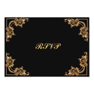 RSVP cards Ornate floral  swirl damask Invite