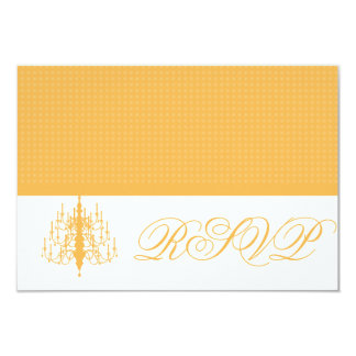 RSVP Chic Chandelier Beeswax Honeycomb Response Ca 9 Cm X 13 Cm Invitation Card