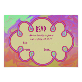 "RSVP Colorful Artsy Splash 3.5"" X 5"" Invitation Card"