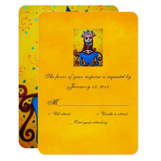 RSVP Day of the Dead Wedding Cards Catrina