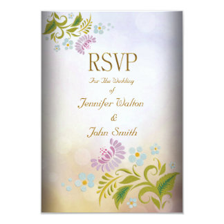 RSVP Elegant Event Gold Silver White Card