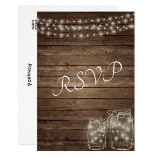 RSVP Elegant Rustic Mason Jar Lights Card