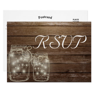 RSVP Elegant Rustic Mason Jar Lights matching Card