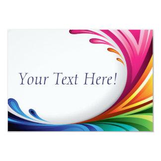 RSVP Elegant Swirling Rainbow Splash - 4 9 Cm X 13 Cm Invitation Card