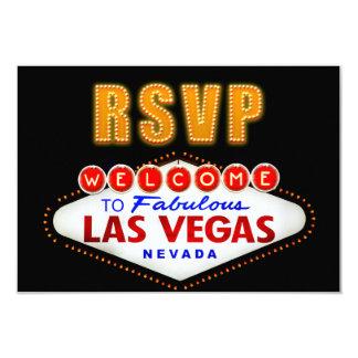 RSVP Fabulous Las Vegas Sign Casino Night RSVP Card